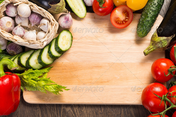 vegetables on the kitchen board - Stock Photo - Images