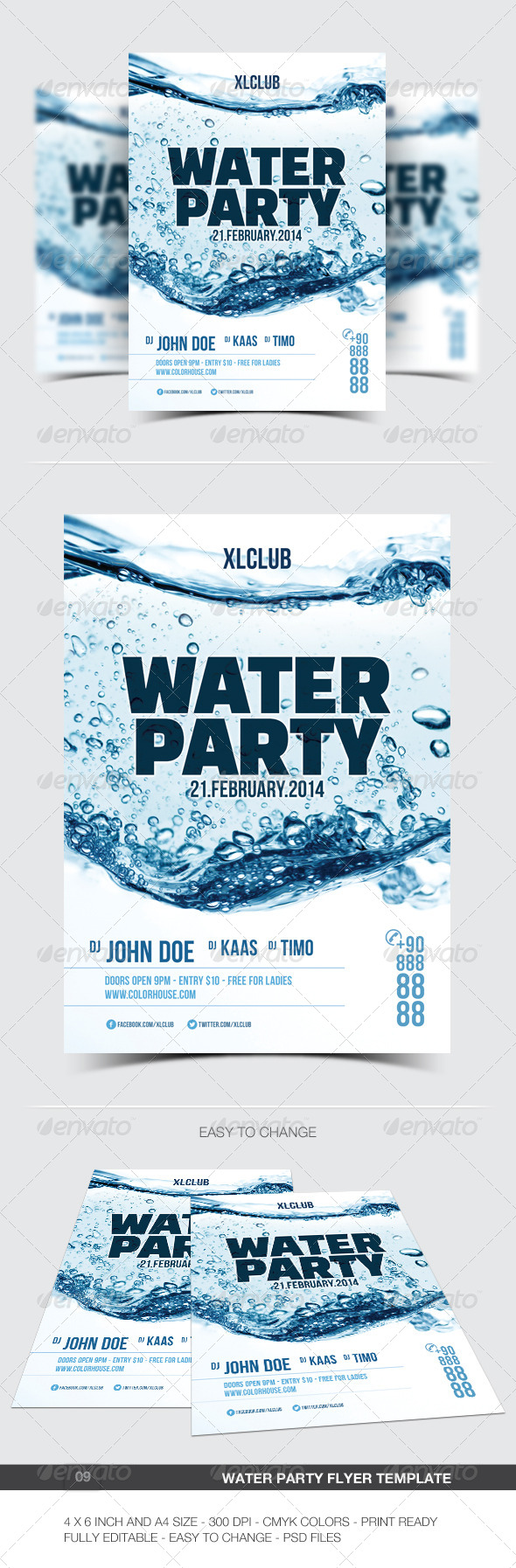Water Party Flyer/Poster - 09 - Clubs & Parties Events