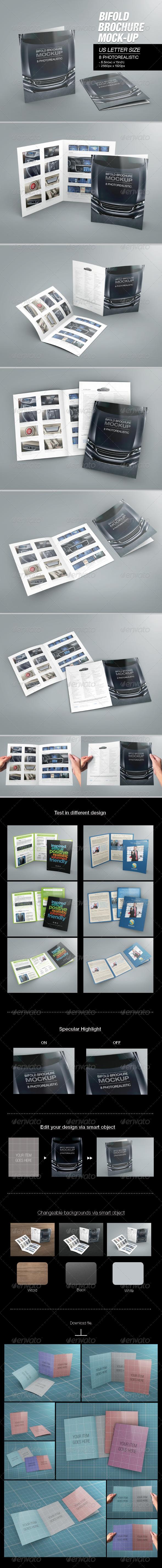 Bifold Brochure Mock-up 02 - Brochures Print