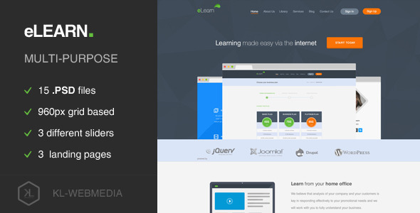 eLearn – Multi-Purpose PSD Template