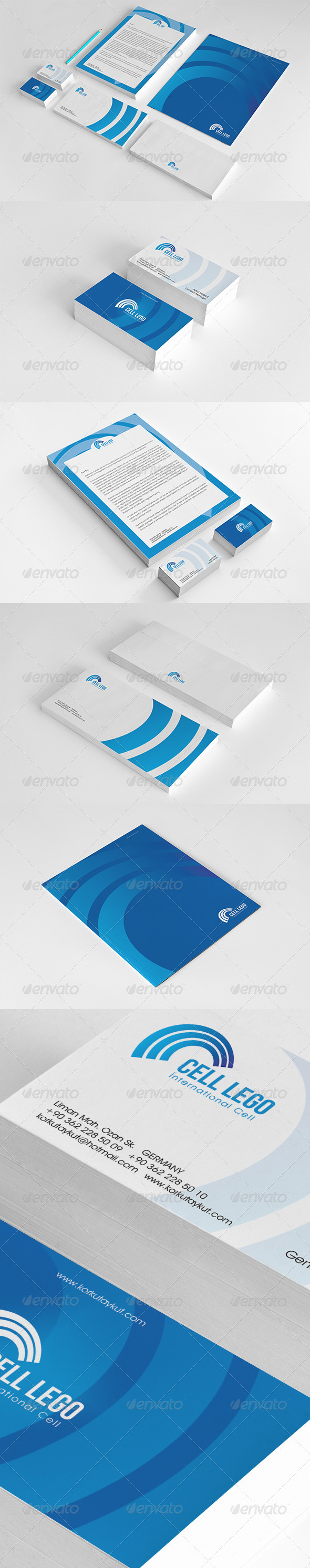 Cell Corporate Identity Package  - Stationery Print Templates