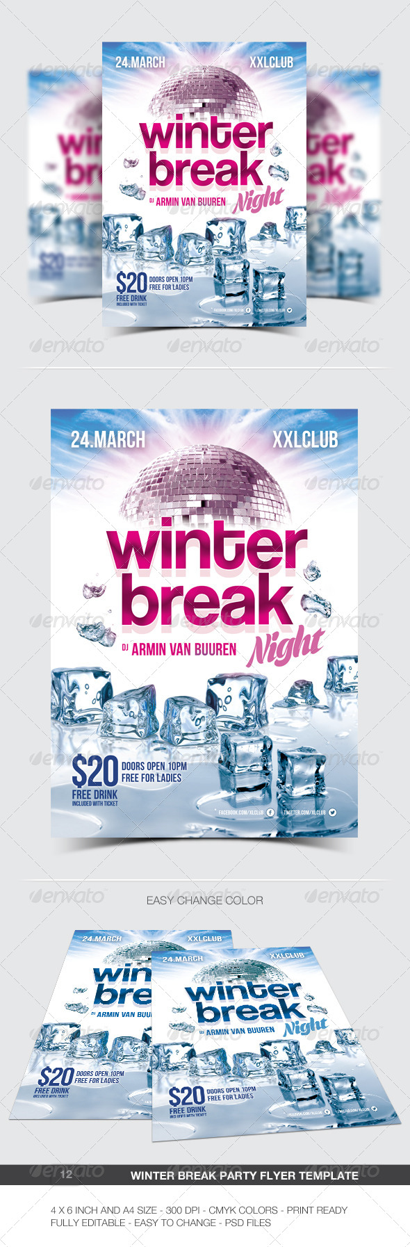 Winter Break Party Flyer / Poster - 12 - Clubs & Parties Events