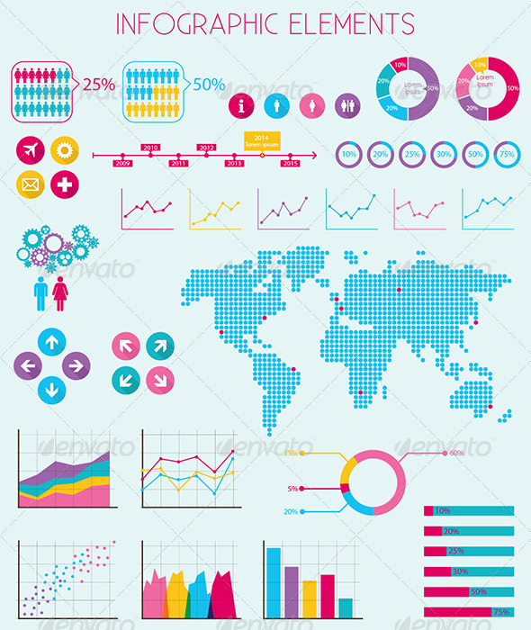Infographics Elements - Vector - Infographics