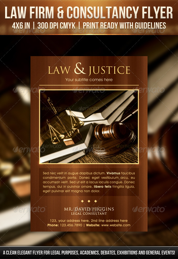 Law Firm & Consultancy Flyer - Corporate Flyers