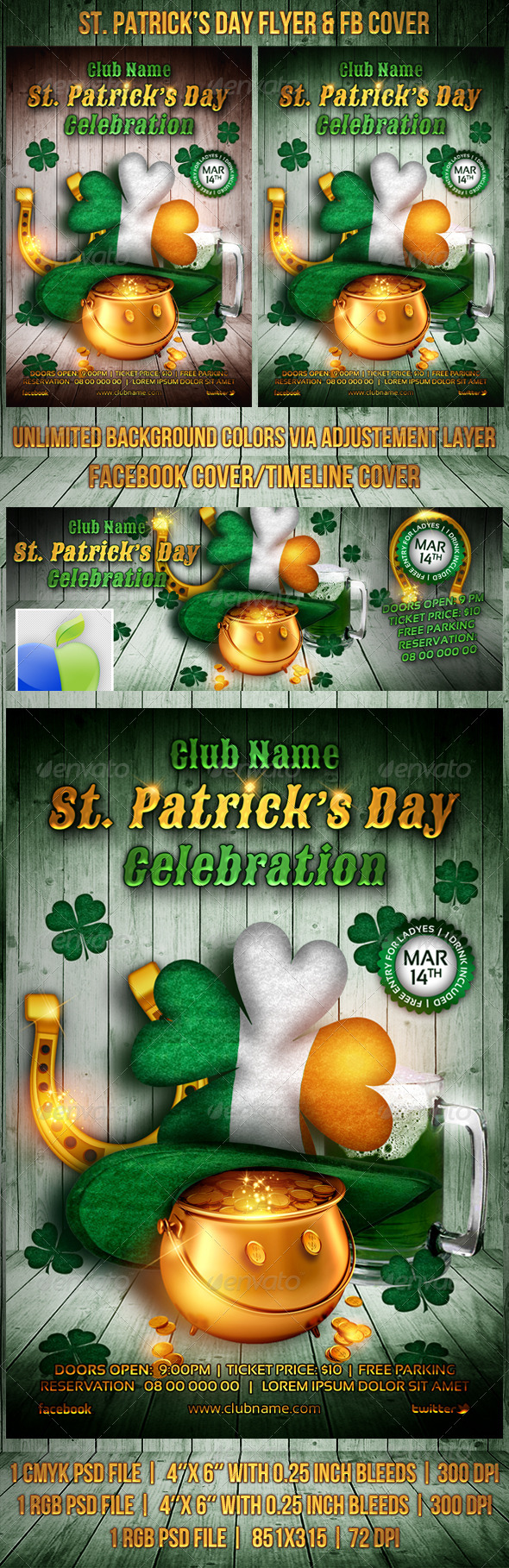 St. Patrick's Day Flyer / FB Cover - Events Flyers