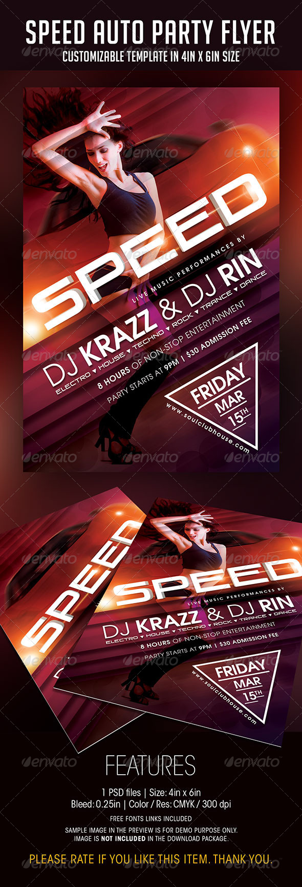 Speed Auto Party Flyer - Clubs & Parties Events