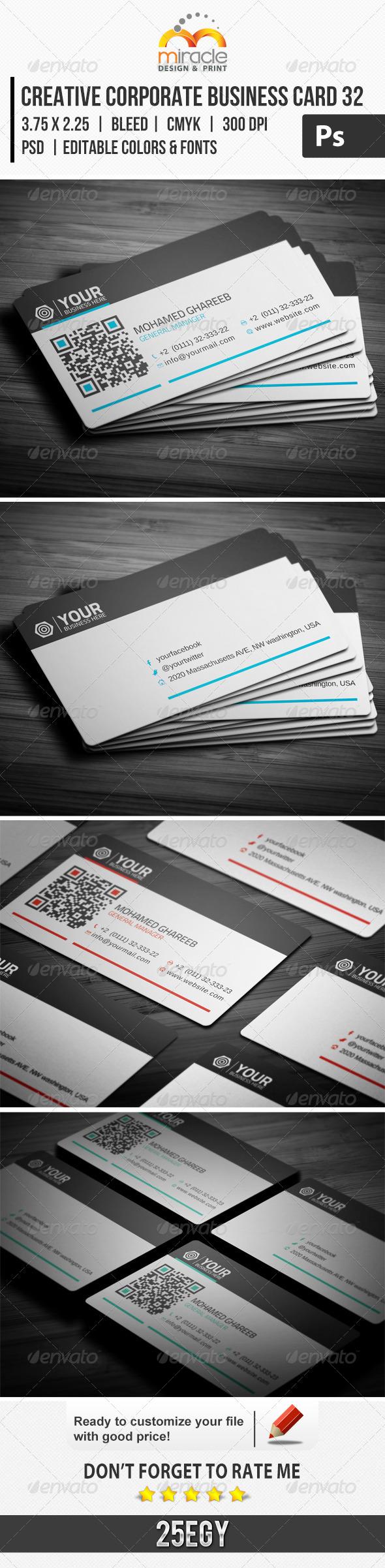 Creative Corporate Business Card 32 - Corporate Business Cards