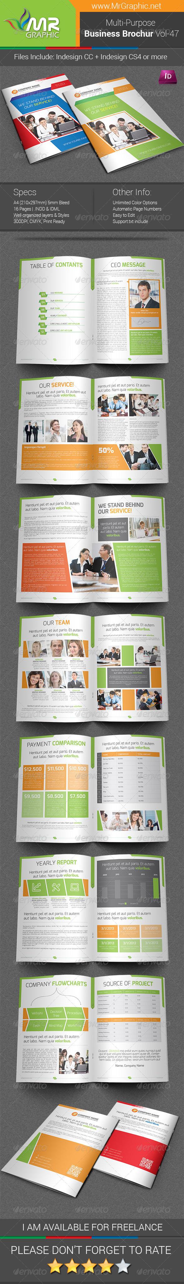 Multipurpose Business Brochure Template Vol-47 - Corporate Brochures