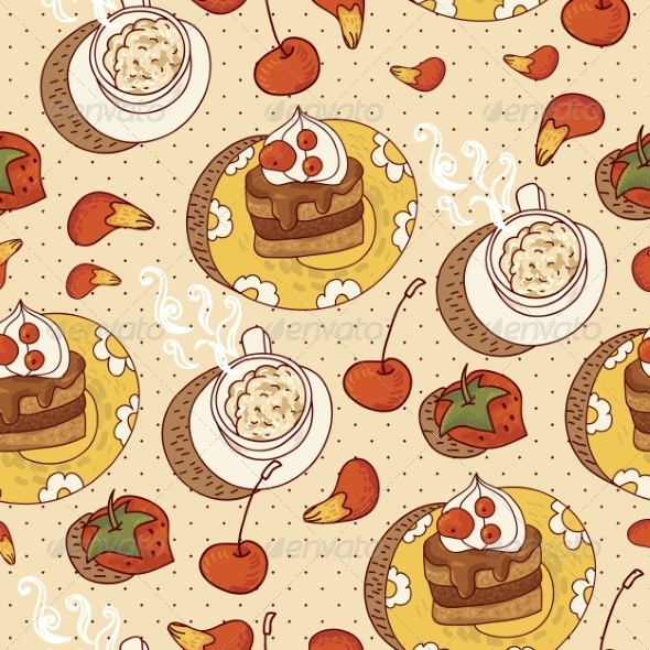 Sweet Time Seamless Background  - Patterns Decorative