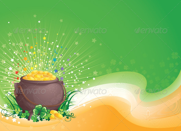 Pot of Gold for Saint Patrick's Day - Seasons/Holidays Conceptual