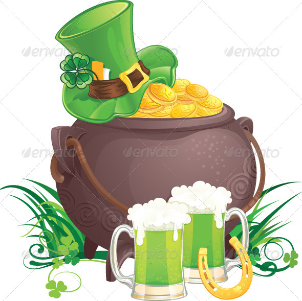 Saint Patrick's Day Symbols - Seasons/Holidays Conceptual
