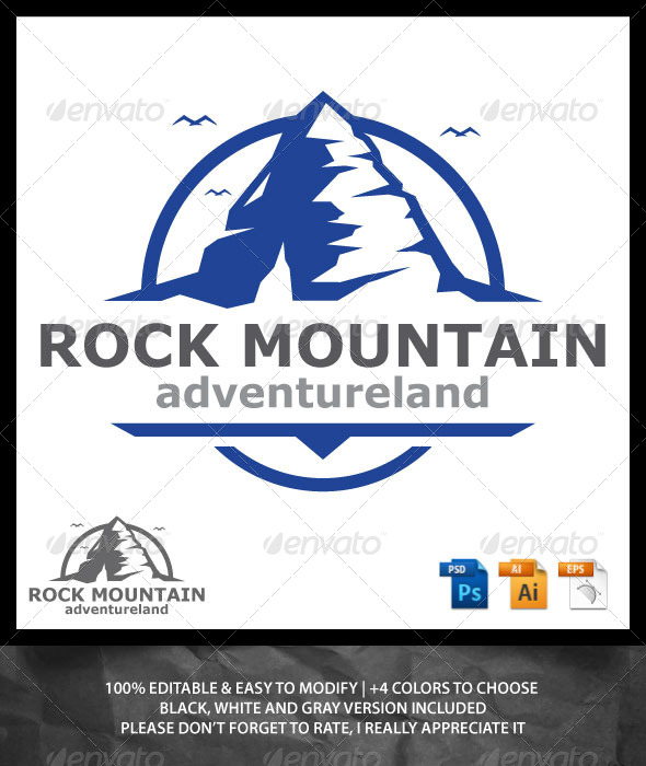 Rock Mountain Logo - Nature Logo Templates