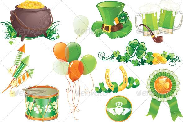 St.Patrick's Day Symbols  - Seasons/Holidays Conceptual