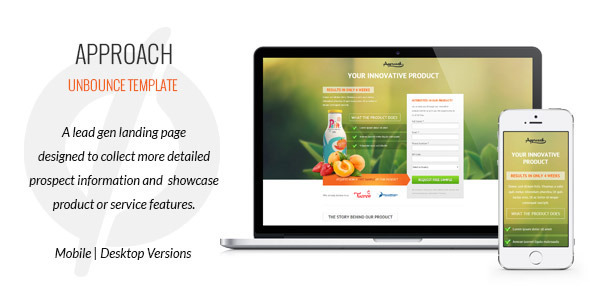 Approach - Lead Gen Unbounce Template - Unbounce Landing Pages Marketing