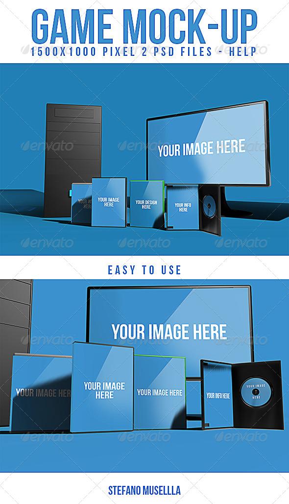 Pc mock up - Product Mock-Ups Graphics