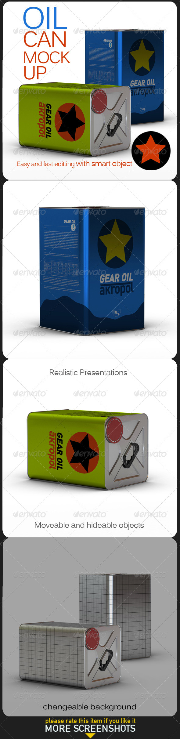 Oil Can Mock Up - Product Mock-Ups Graphics