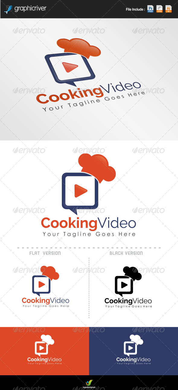 Cooking Video Logo  - Symbols Logo Templates
