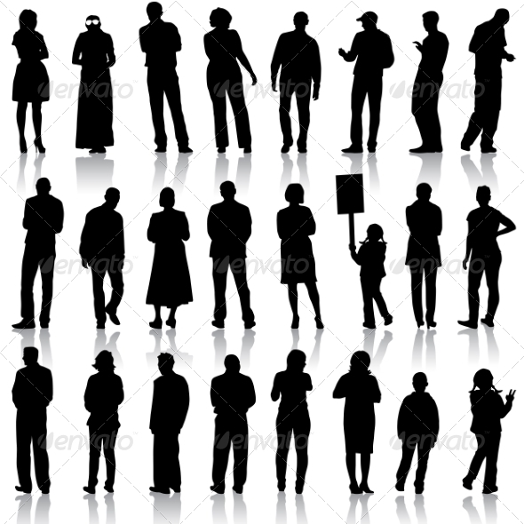 Silhouettes of People - People Characters