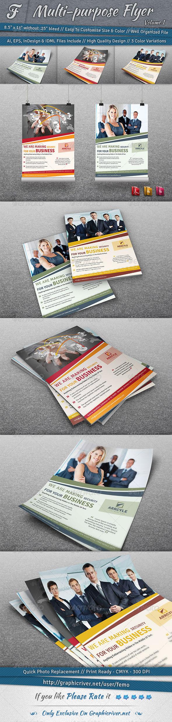 Multi-purpose Flyer | Volume 1 - Corporate Flyers