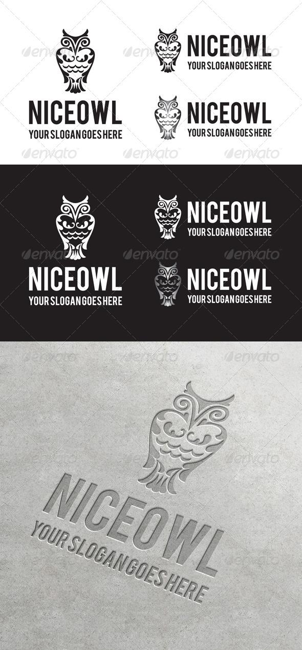 Niceowl Logo - Animals Logo Templates