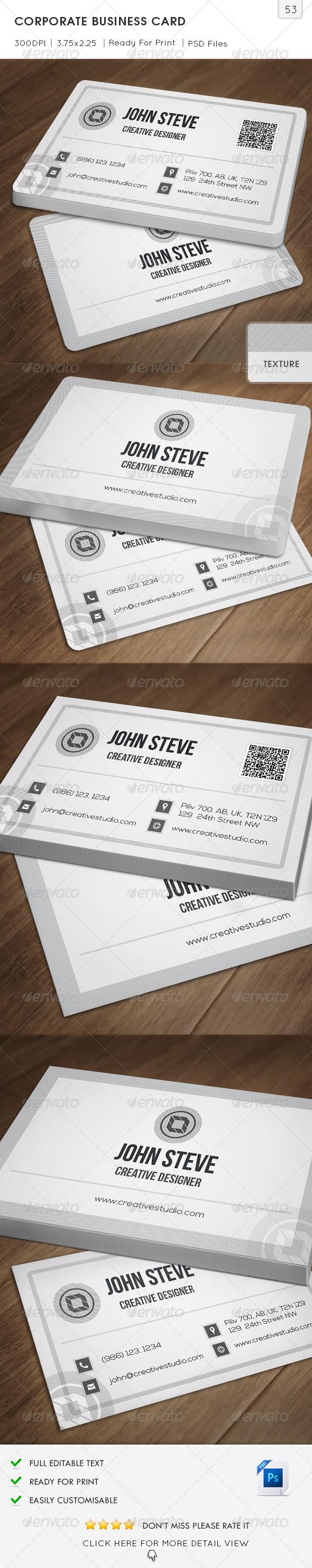 Corporate Business Card v53 - Corporate Business Cards