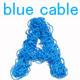 Blue Cable Alphabet - GraphicRiver Item for Sale