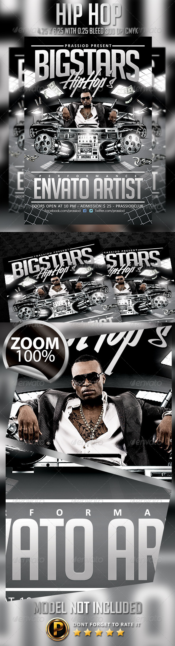 Hip Hop Flyer Template - Clubs & Parties Events