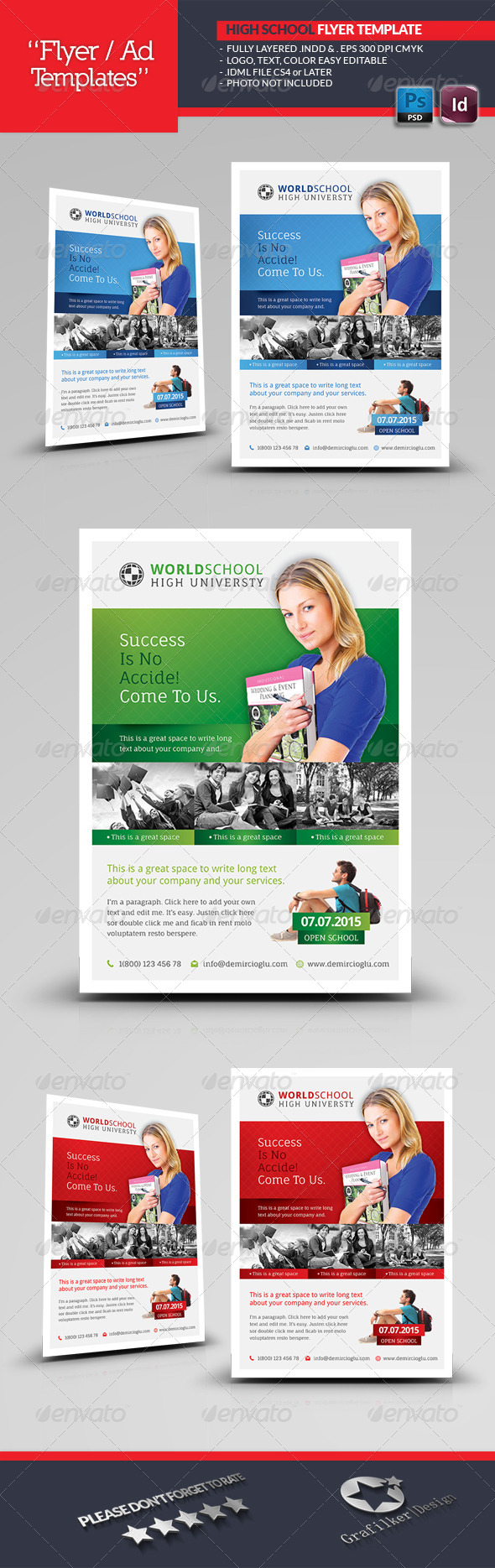 High School Flyer Templates - Corporate Flyers