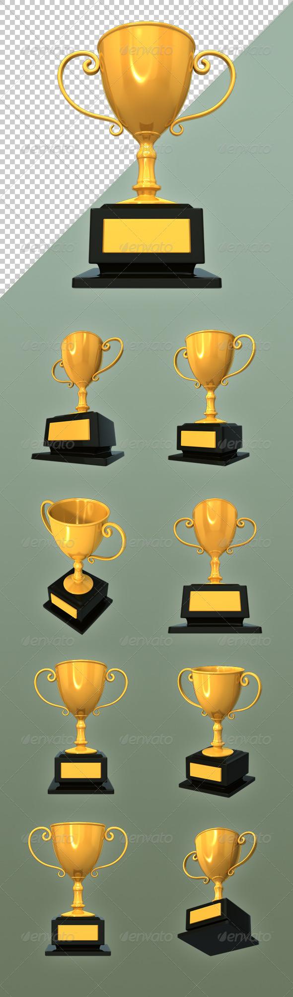 Golden Trophy - Objects 3D Renders