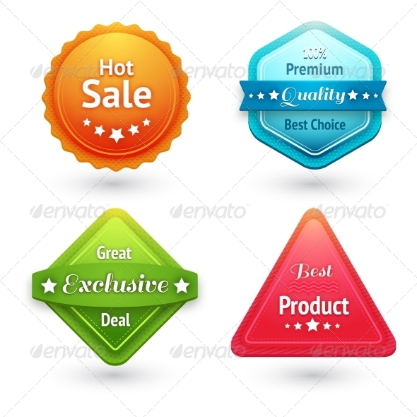 Collection of Sale Labels - Retail Commercial / Shopping