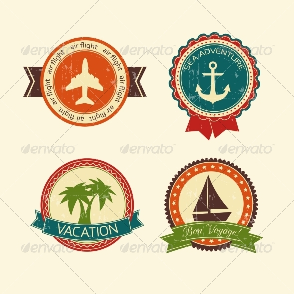 Vacations Travel Badges Collection - Travel Conceptual