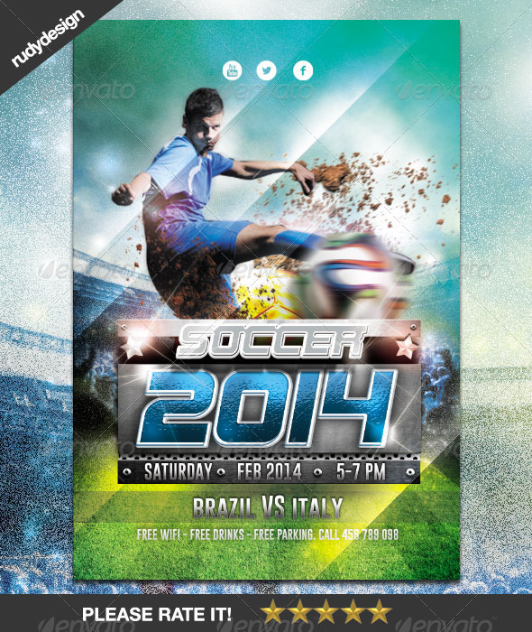 Soccer Cup 2014 Flyer Design - Sports Events