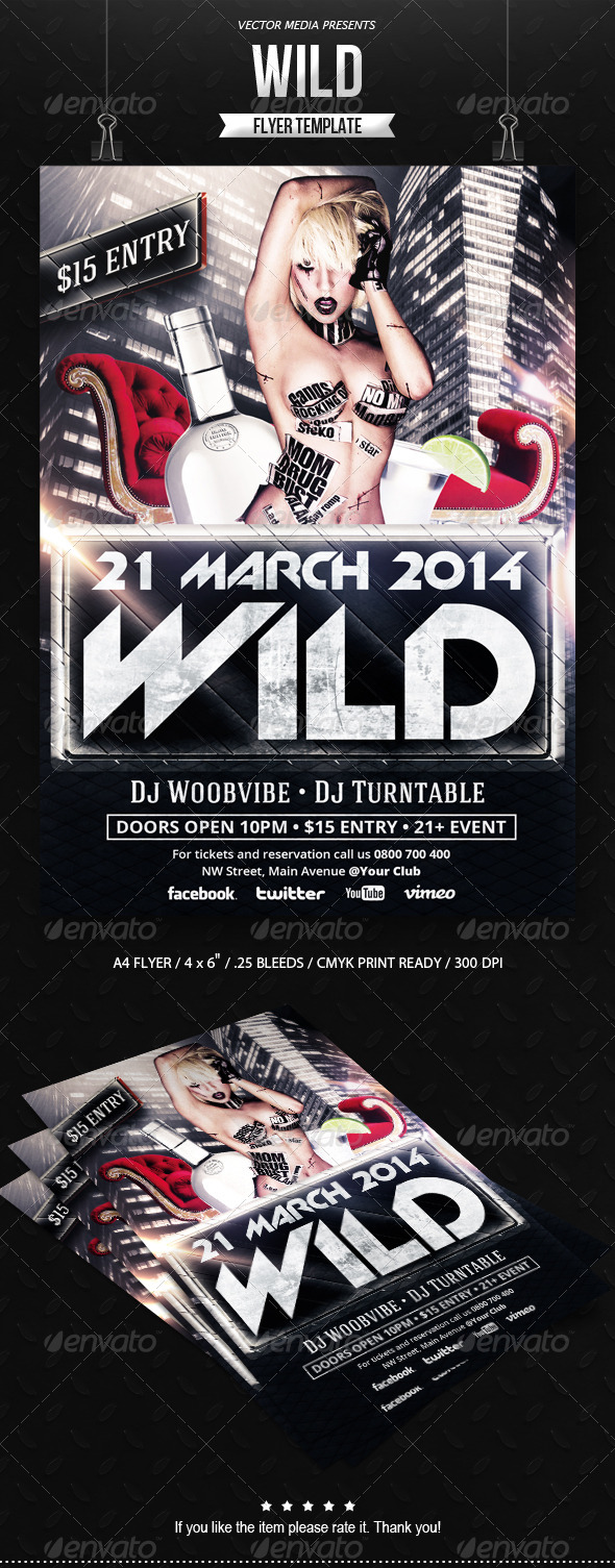 Wild - Flyer - Clubs & Parties Events