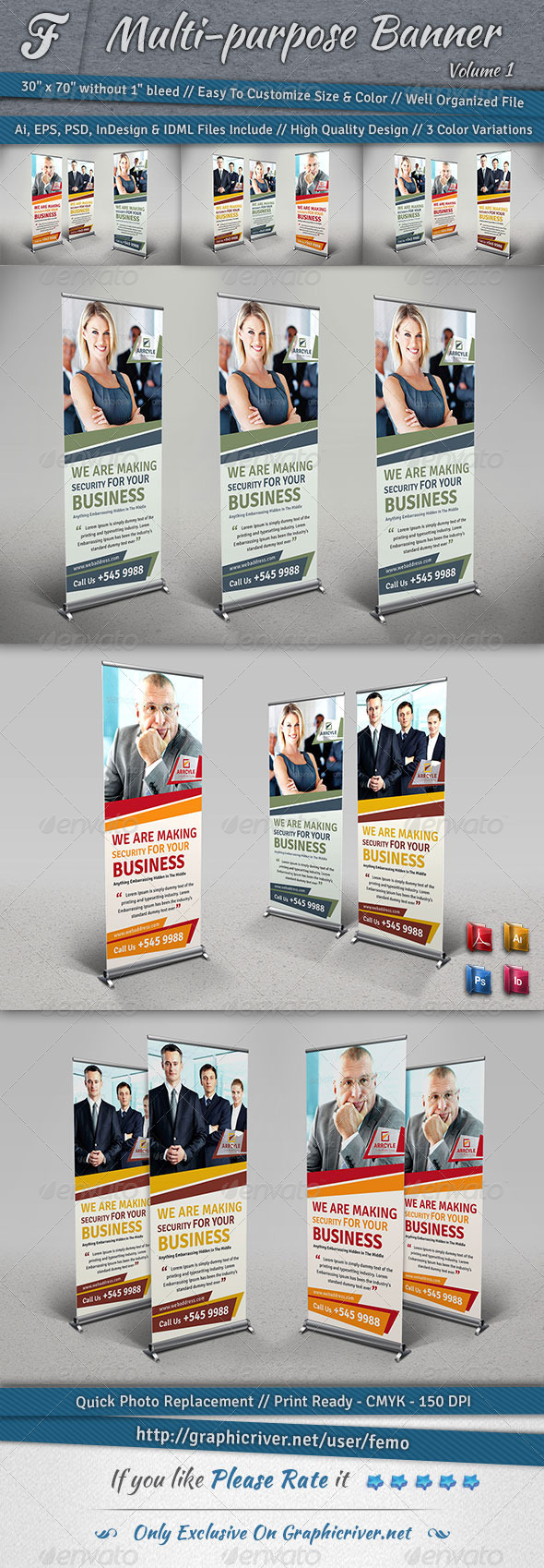 Multi-purpose Banner | Volume 1 - Signage Print Templates