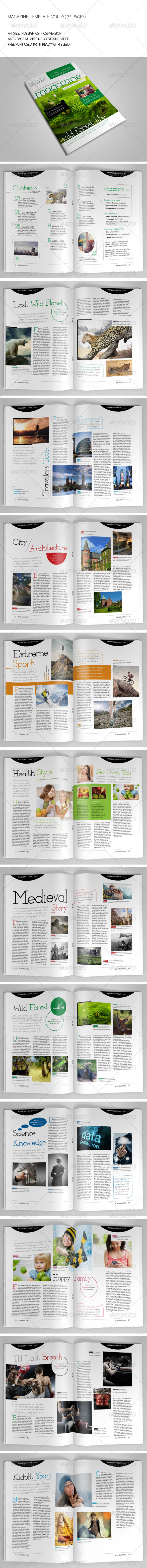 25 Pages Template Magazine Vol9 - Magazines Print Templates
