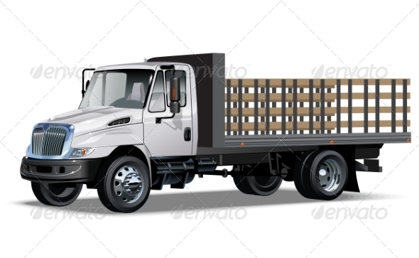 Truck Flatbed - Man-made Objects Objects