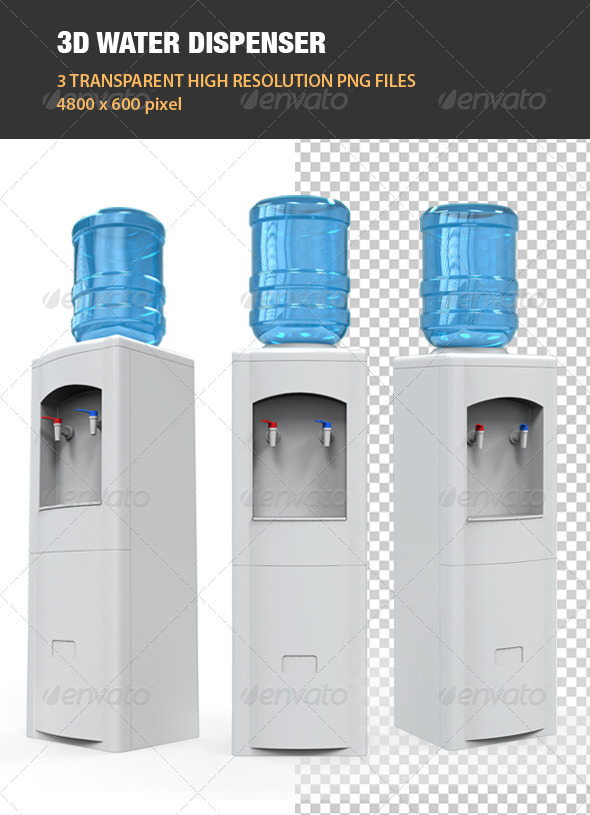 3D Water Dispenser - Objects 3D Renders
