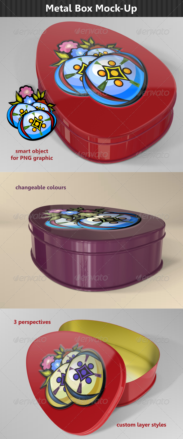 Egg Metal Box Mock-Up - Packaging Product Mock-Ups