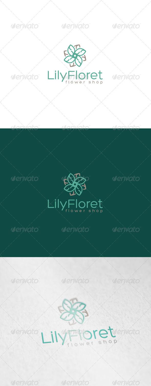 Lily Floret Logo - Nature Logo Templates
