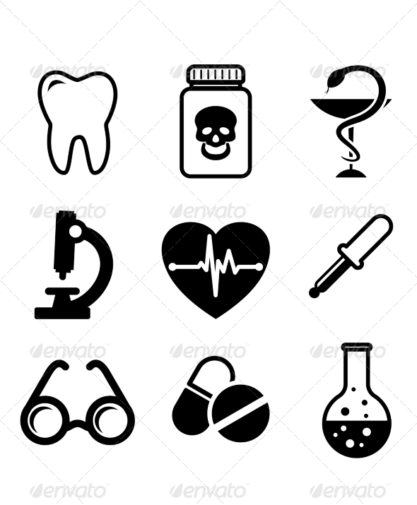 Collection of Medical Icons - Miscellaneous Vectors