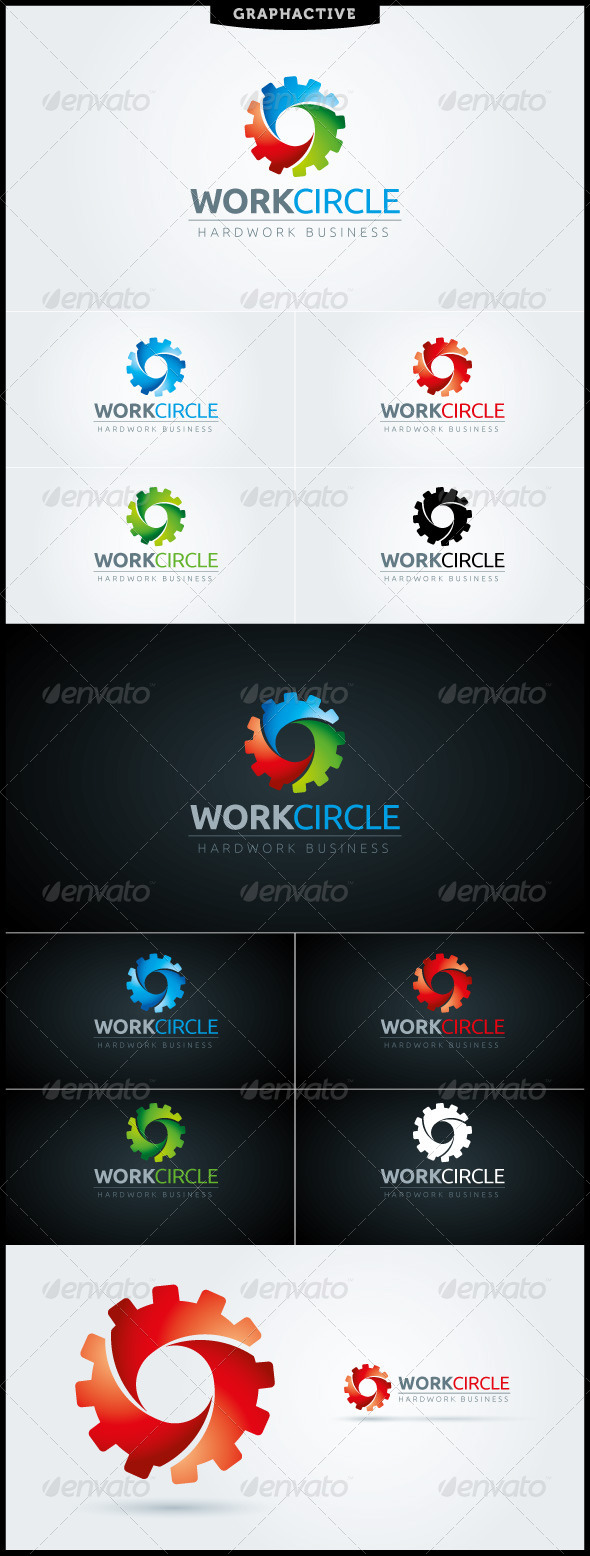 WorkCircle Logo Template - Vector Abstract