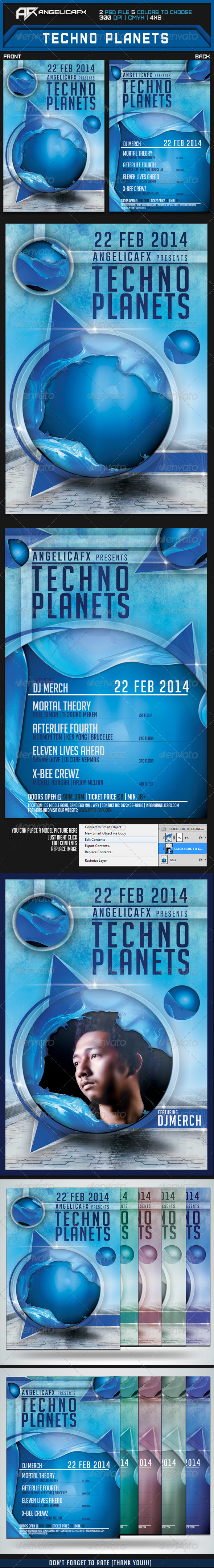 Techno Planet Flyer Template - Flyers Print Templates