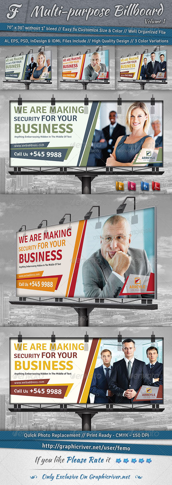 Multi-Purpose Billboard | Volume 1 - Signage Print Templates