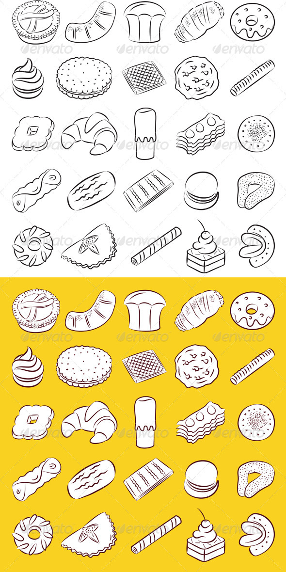 Cookies Vector - Food Objects