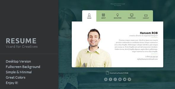 Resume - Vcard for Creatives