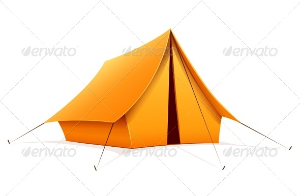 Touristic Camping Tent - Man-made Objects Objects