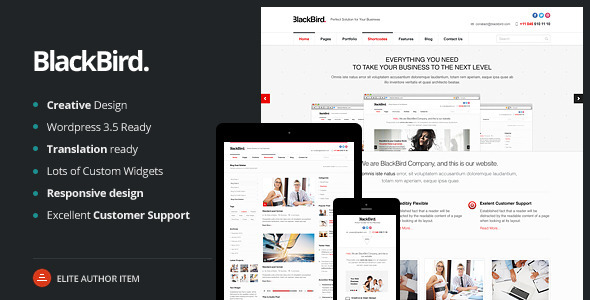 BlackBird | Responsive Multi-Purpose Theme - Business Corporate