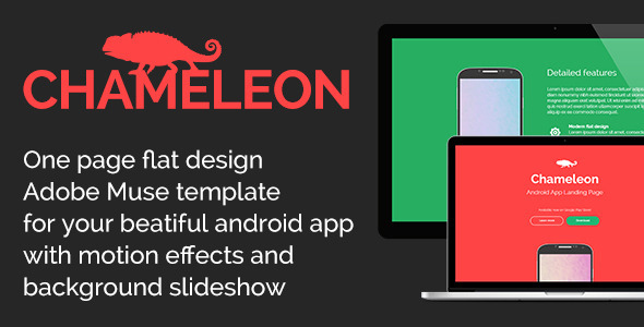 Chameleon - Android App Promo Site Muse Template - Landing Muse Templates