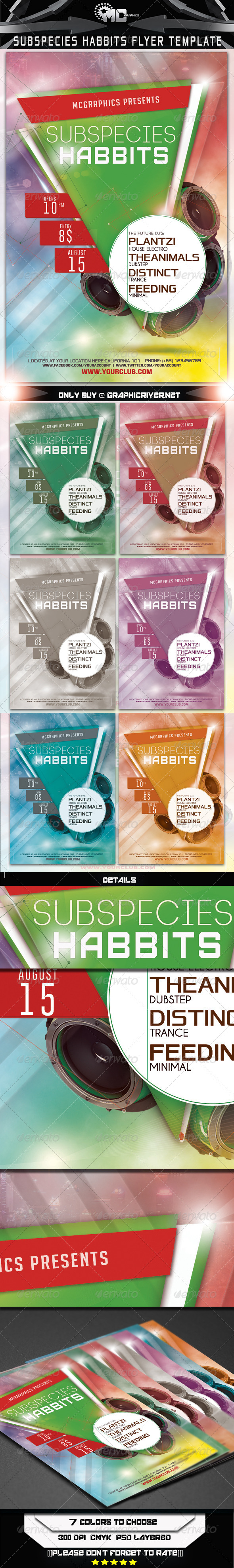 Subspecies Habbits Flyer Template - Flyers Print Templates