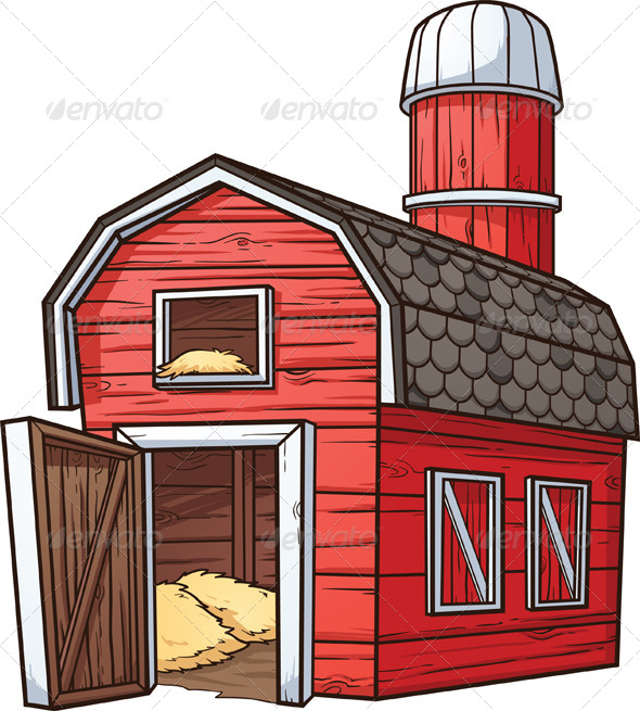 Cartoon Barn - Buildings Objects